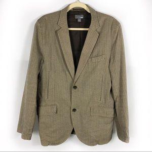 H&M Herringbone Jacket Soft Structure 2-Button
